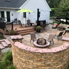 To show a outdoor living space