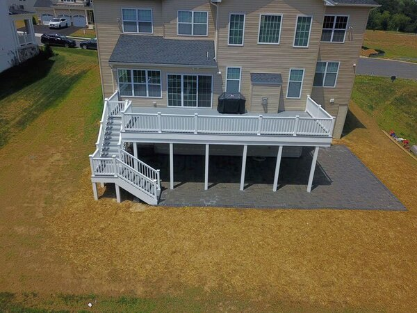 Larger second story deck
